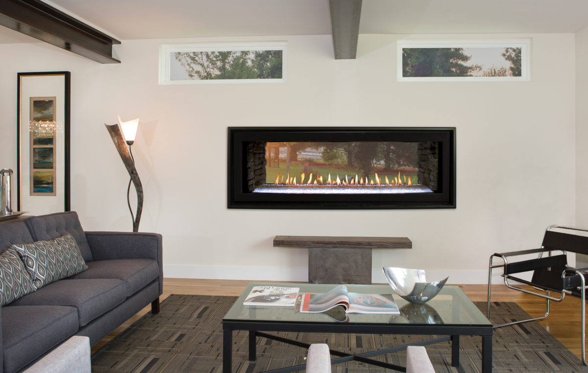 Boulevard 48-inch Direct-Vent Linear See-Through Fireplace