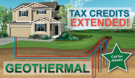 Geothermal Tax Credits have been extended!