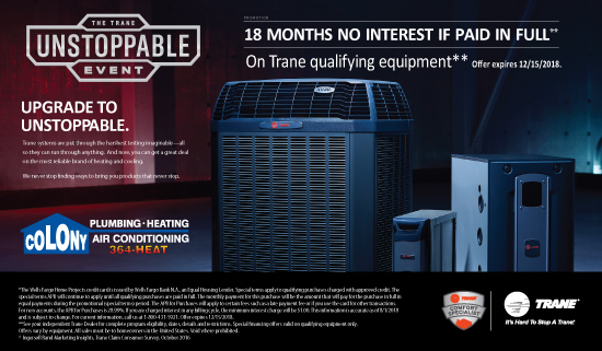 Trane Furnace and Air Conditioning Promotion