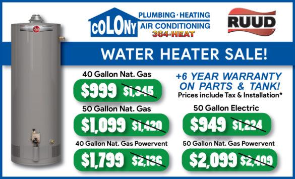Water_Heater_Sale_Colony_Plumbing_Heating_Air_Conditioning_Cedar_Rapids_Iowa_City