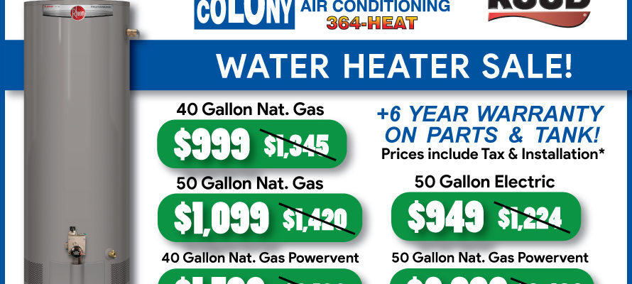 Water_Heater_Sale_Colony_Plumbing_Heating_Air_Conditioning_Cedar_Rapids_Iowa_City