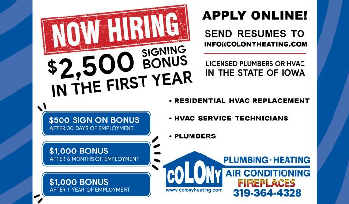 Now-Hiring-Signing-Bonus-Colony-Plumbing-Heating-Air-Conditioning